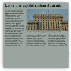 Las fortunas españolas miran al extranjero
