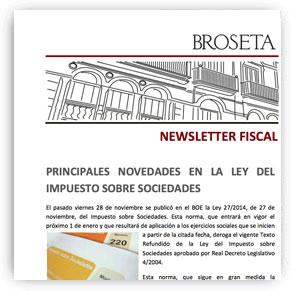 CONSILIO para BROSETA - novedades impuesto de sociedades