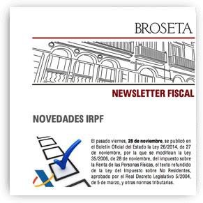 CONSiLIO para BROSETA: Novedades IRPF